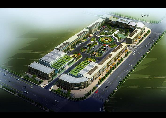 图纸 建筑图纸  商业建筑  农贸市场设计  农贸市场鸟瞰图   整体规划