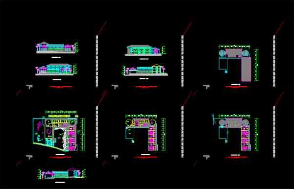 某地9班制经典幼儿园建筑方案设计图纸 波托菲诺幼儿园 某地三层框架