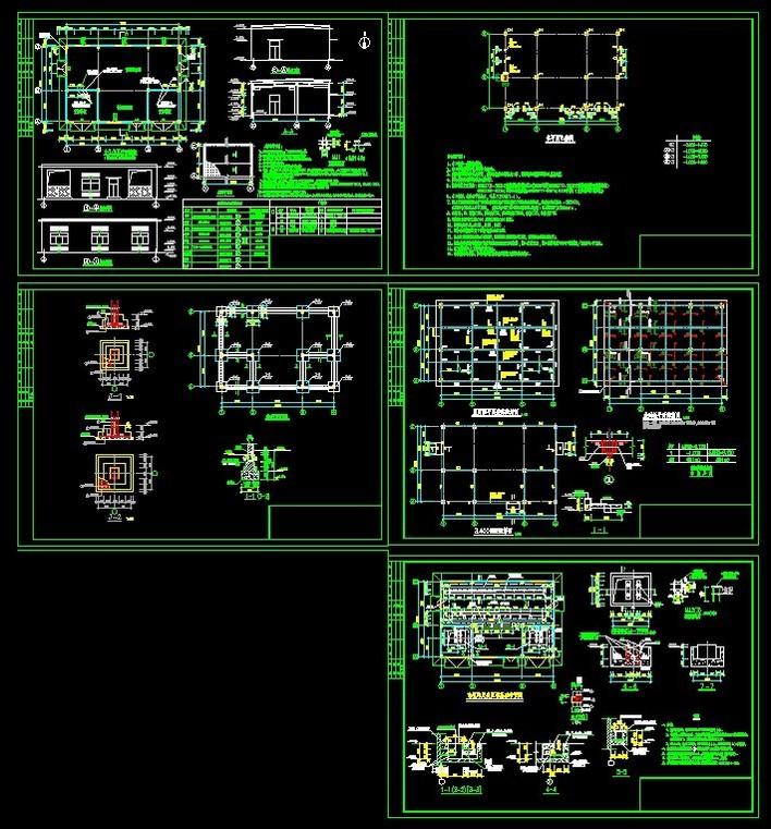 广西南宁某小区电气施工图(高,低压及配电房布置图) 某住宅小区配电房