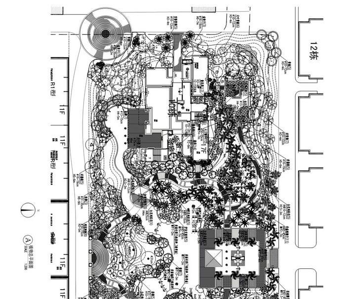 图纸 园林设计图 植物配置参考实例  上传时间:2010-08-10 所属分类