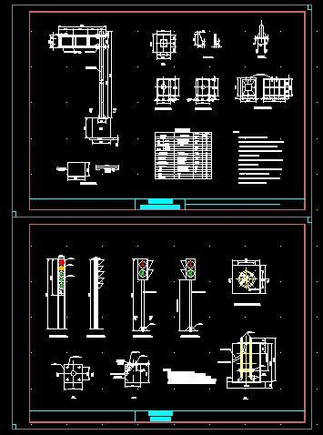 结构图 38 电线杆,信号灯一体化设计