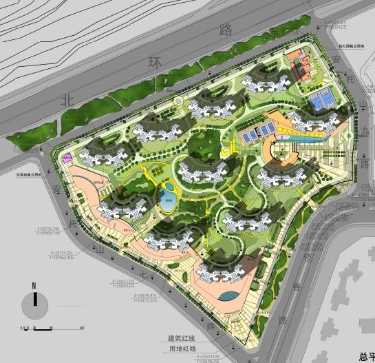 图纸 园林设计图 侨香村总平面图  上传时间:2010-08-12 所属分类