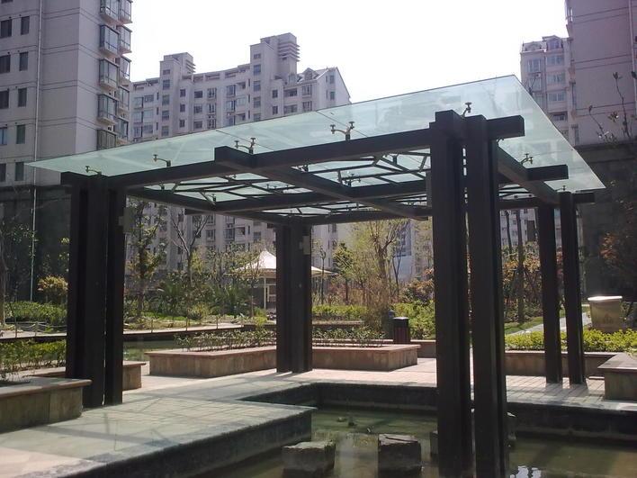 某小区现代风格凉亭 相关专题:现代钢结构现代预应力