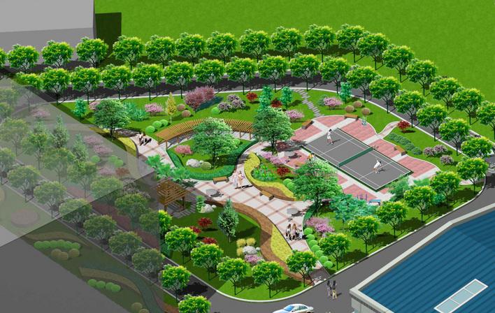 某小区中心广场绿化