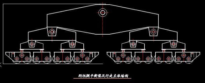 200t门式起重机刚性腿平衡梁及行走主体结构