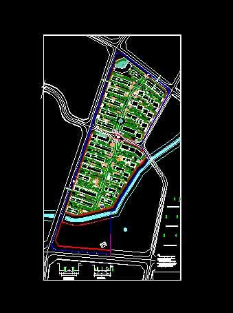 设计手绘透视图 呼和浩特东岸国际住宅区平面图 100ha住宅区规划总图