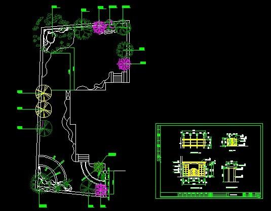 某地别墅庭院景观规划设计平面布置方案图