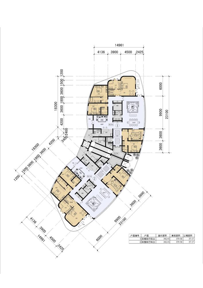 几十种常用的多层及高层住宅户型布置图  上传时间:2010-08-19 所属