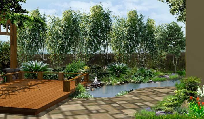 别墅私家花园设计 私家花园别墅设计 私家住宅设计效果图 花园设计