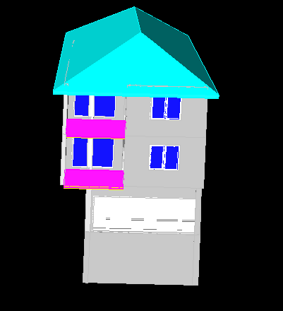 三层建筑立体
