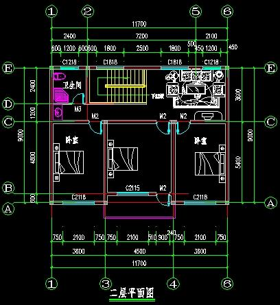 2层 别墅设计图纸