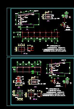 钢结构车棚施工图纸 简易钢结构厂房图纸