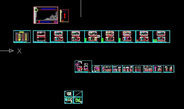 图纸 建筑图纸  小复式公寓设计   经典的小复式公寓楼,40多平方的