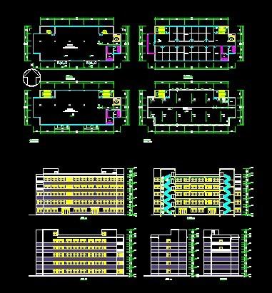 多层 厂房,具有 平面图