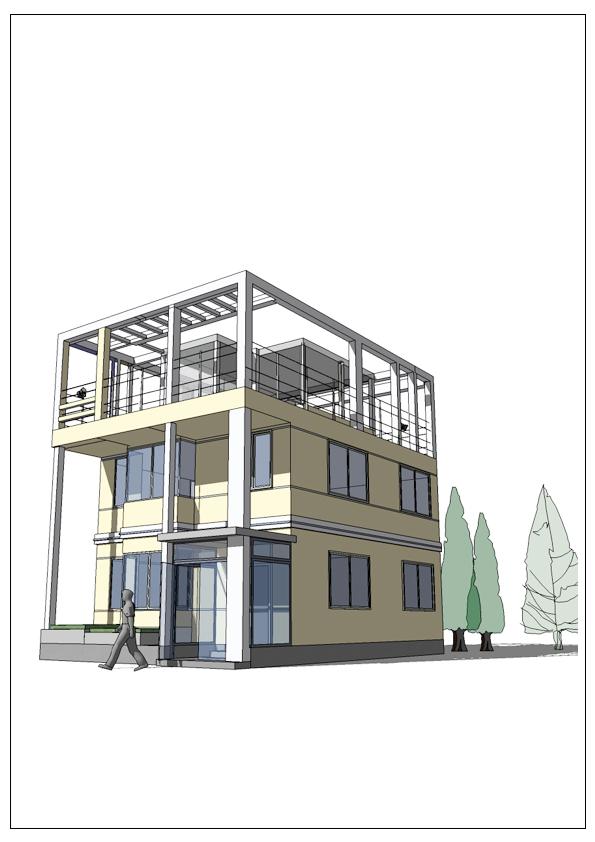 五层综合办公楼效果图