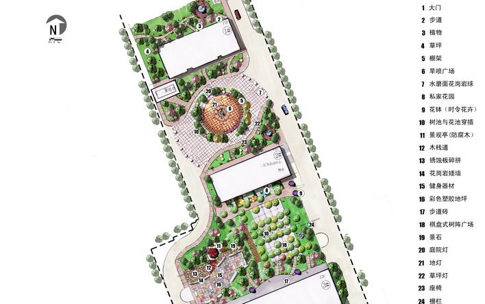 图景观园林手绘平面图;