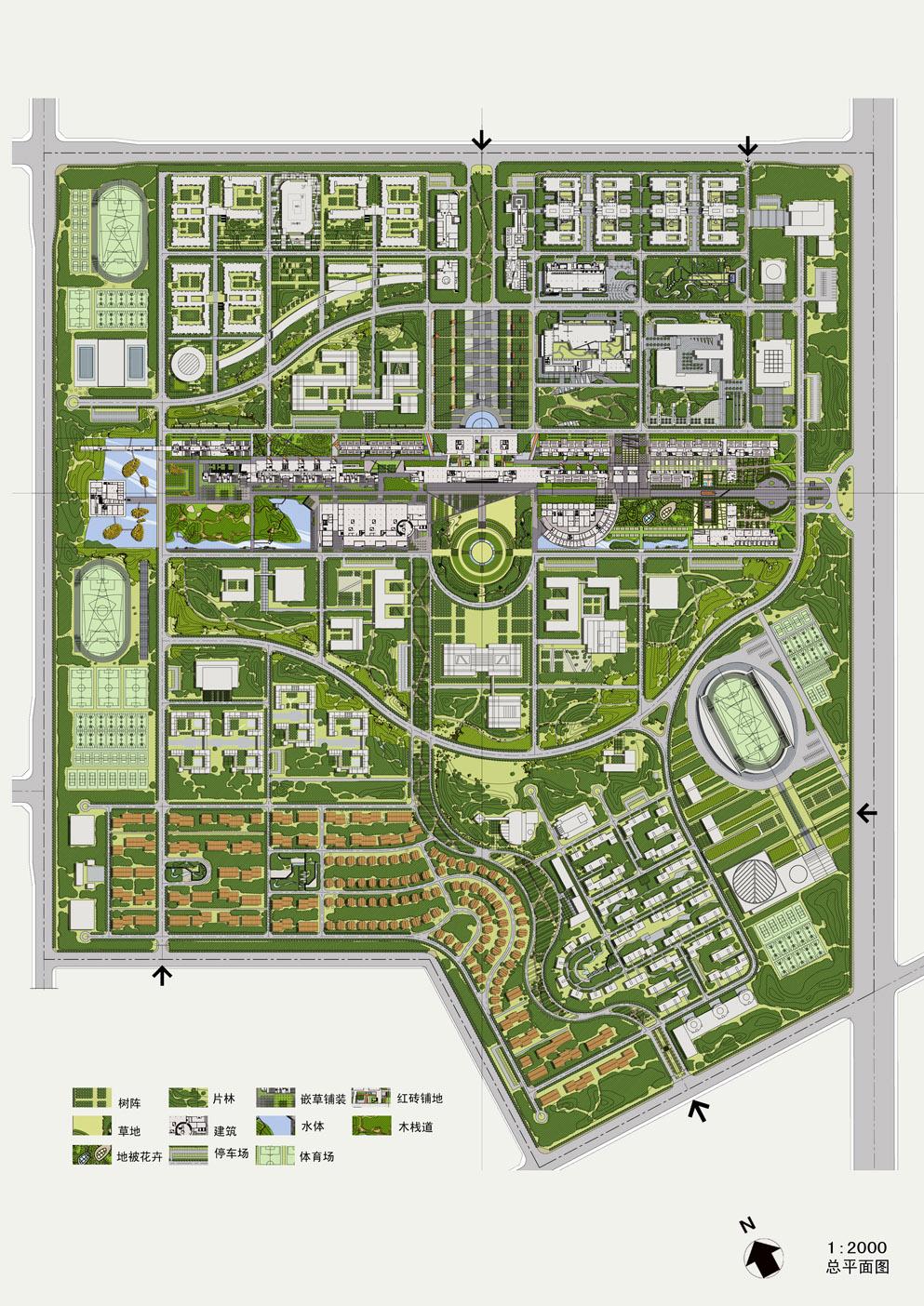 某大学校园景观规划设计
