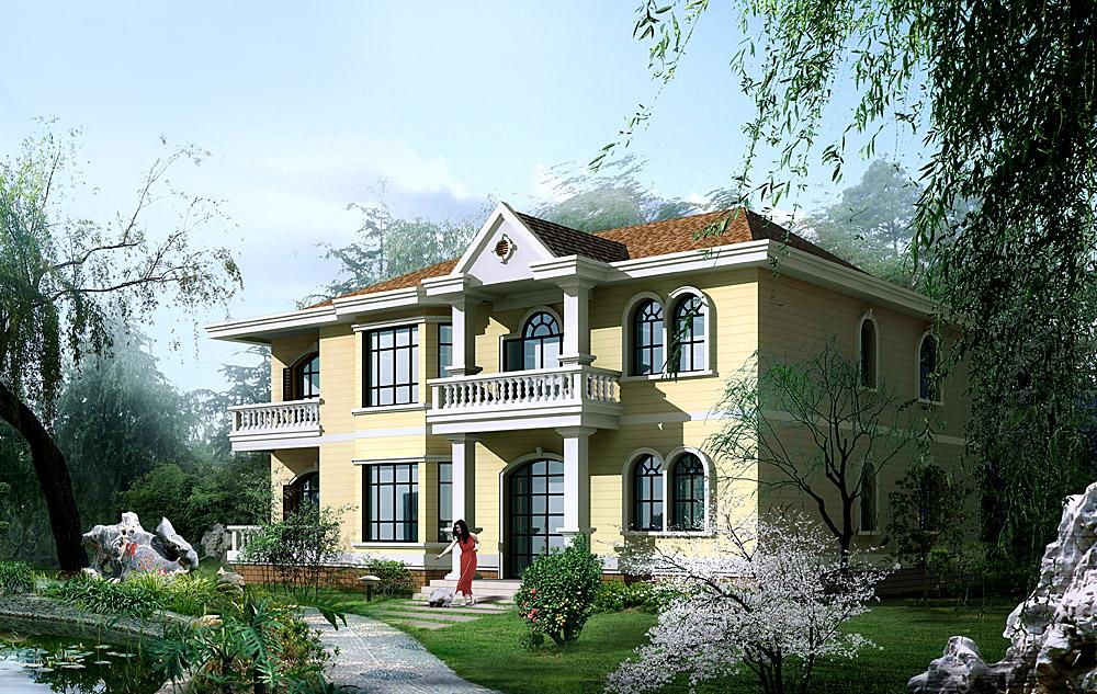 二 层  农村 房屋 别墅  设计       两  层 复式楼房效果 设计图片