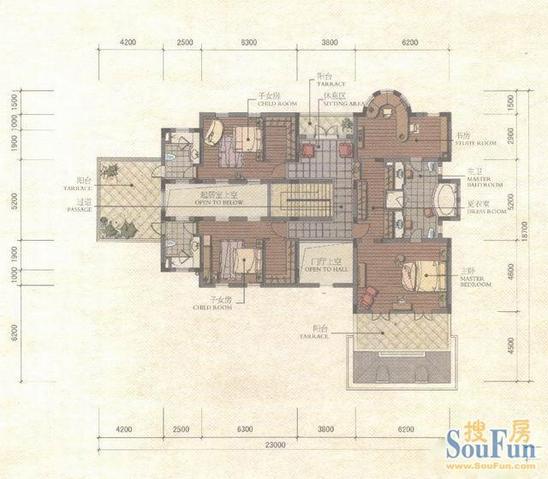别墅房型图农村别墅房型图叠加别墅房型图两层半别墅房型图四室两厅