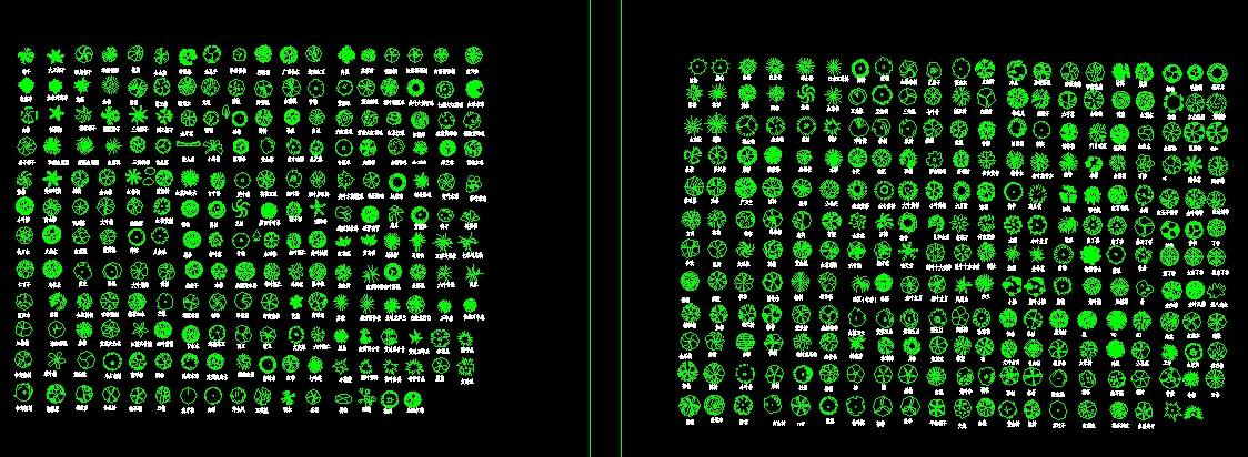 植物图例_植物平面图例,手绘植物图例; 绿化植物图例;
