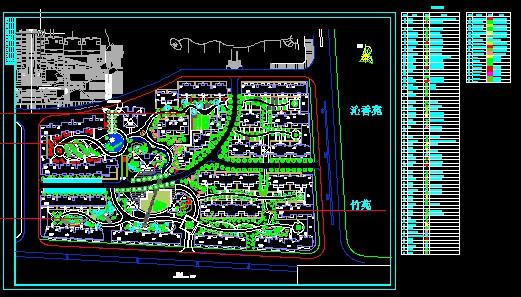 图纸 园林设计图 华锦四期住宅区规划及景观设计  上传时间:2010-09