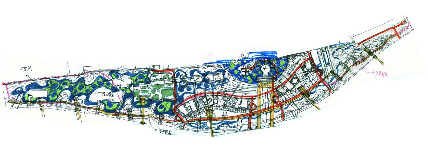 上海世博园手绘图