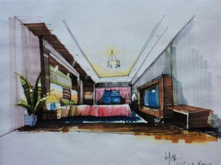 展馆设计手绘图广场设计手绘图宴会厅手绘图公共卫生