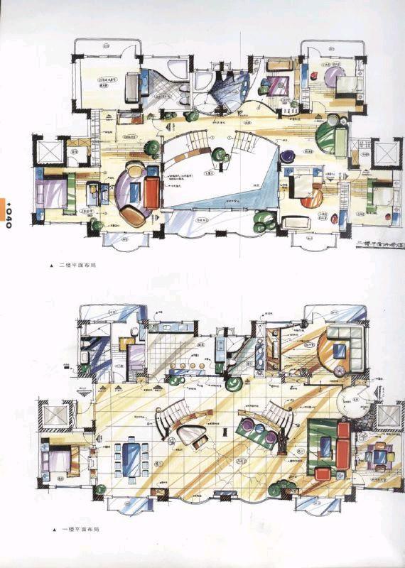 手绘空间设计图 展示设计手绘效果图 展示设计手绘立面图 商场展示