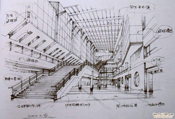 展示设计手绘效果图 展示设计手绘立面图