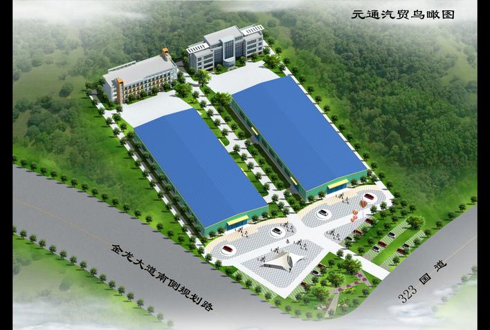 某地区医药企业厂房规划设计总平面布置图 某地区工业厂房总平面布置