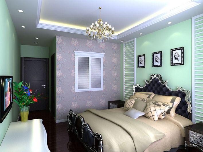 卧室 含3dmax模型 3dmax改变背景颜色 高清图片