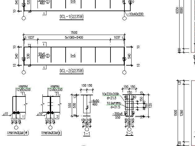 图纸 建筑结构图  某地单层轻型门式钢架厂房施工图纸(带气楼)   这是