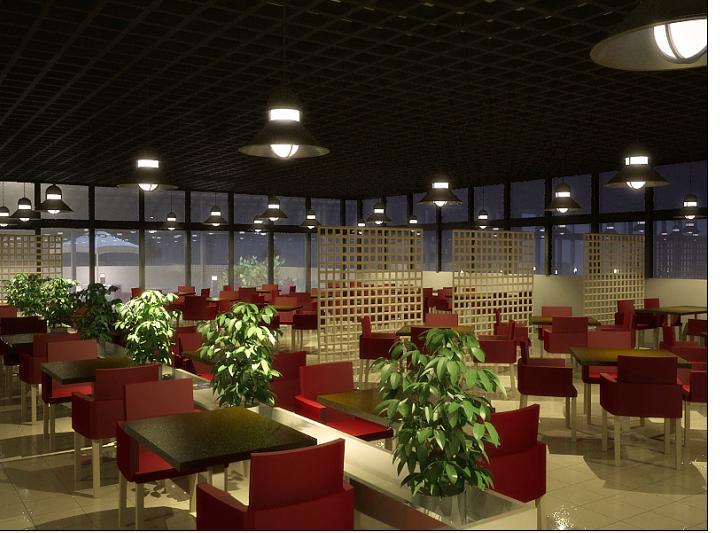 露台玻璃房港式茶餐厅效果图高清图片
