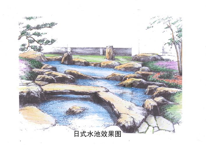 日式庭园效果图