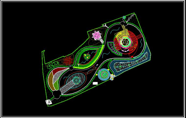 公园的设计图 公园绿化设计图