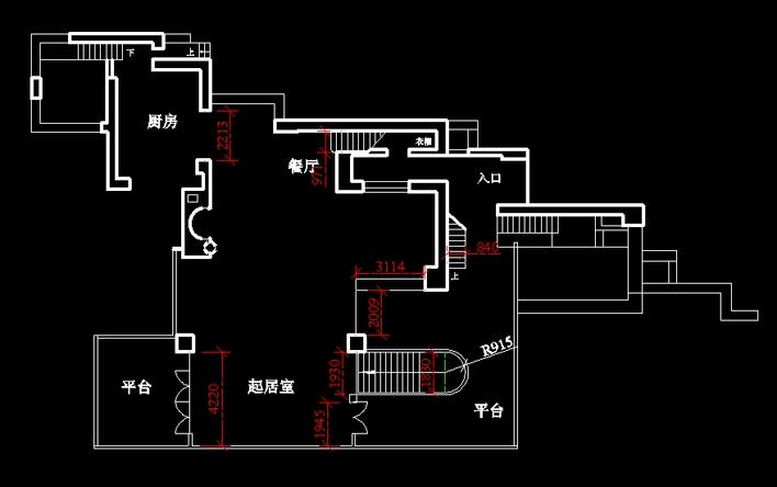 流水别墅的平面图