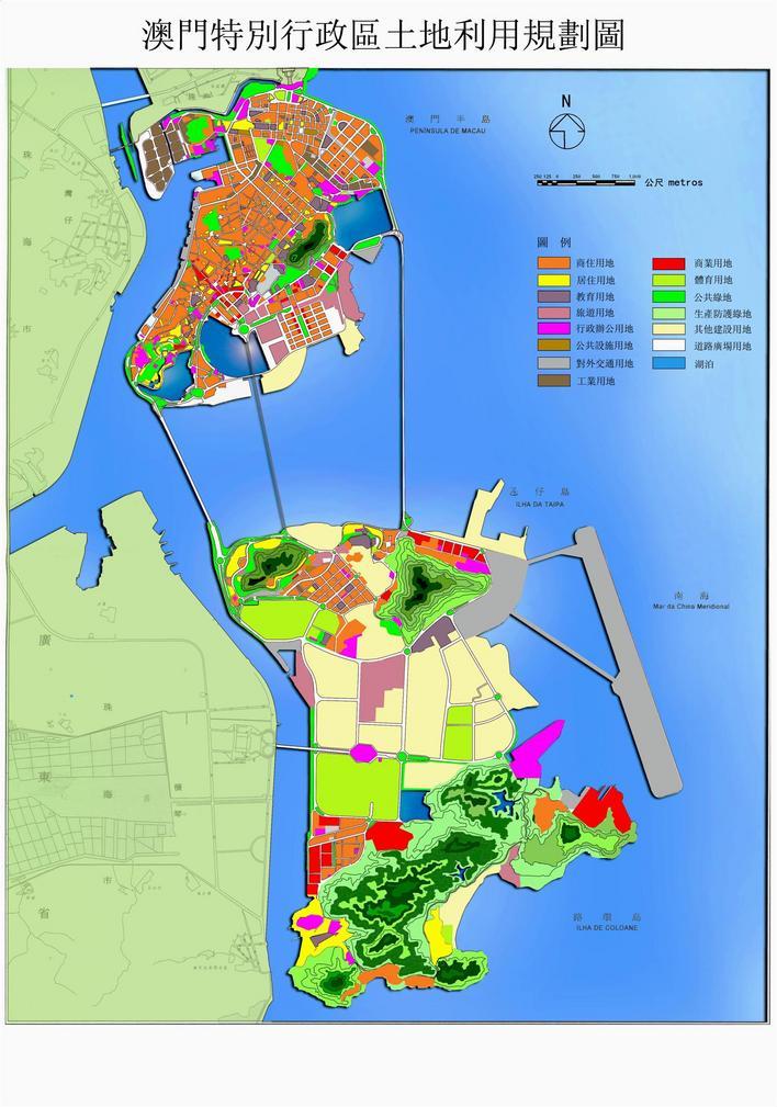 最新澳门交通地图全图