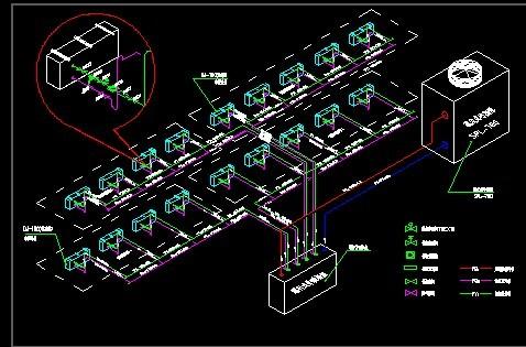 氟制冷系统透视图