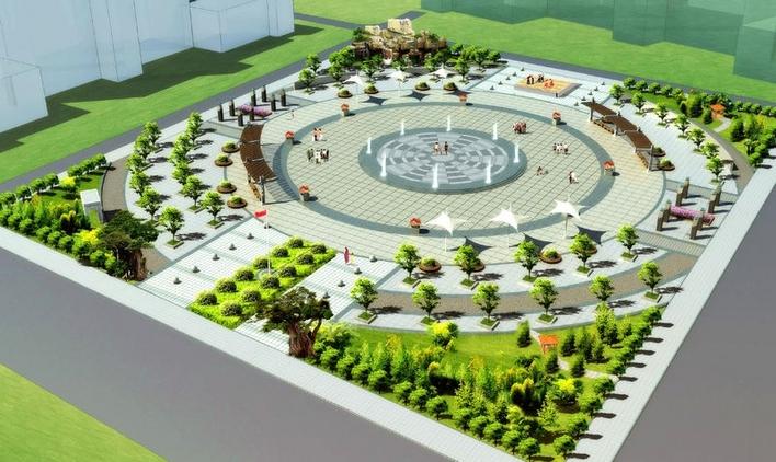 图纸 园林设计图  ps效果图   园林绿化效果图  相关专题:ps立面效果