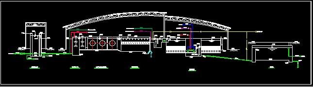 厂初步设计工艺流程图 【辽宁】两层框架结构净水厂厂房结构施工图,共