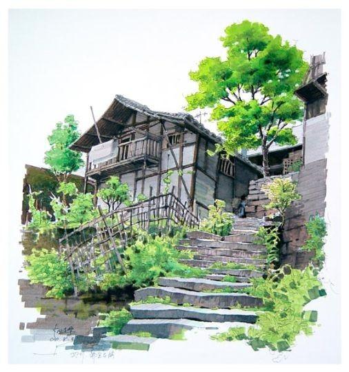 马克笔手绘经典规划总平面图(三) 建筑景观马克笔手绘效果图 马克笔