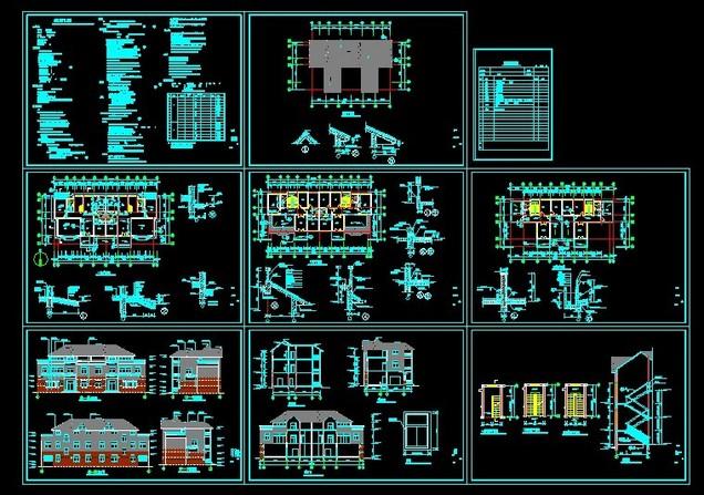 多层住宅建筑施工图