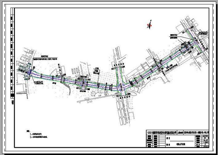 高速引线道路景观设计平面图延长米大道绿化景观大道设计城市景观大道