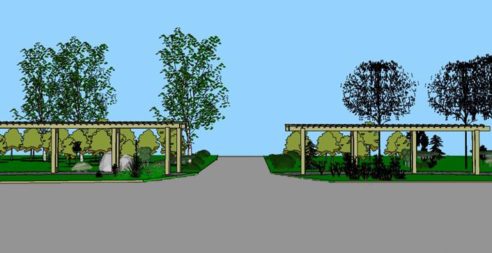 手绘苗圃规划设计图展示