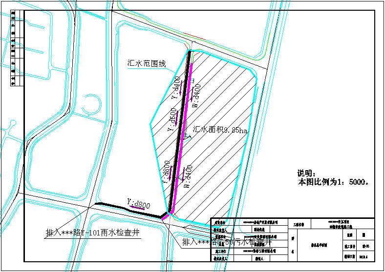 市政道路附属雨污水施工图