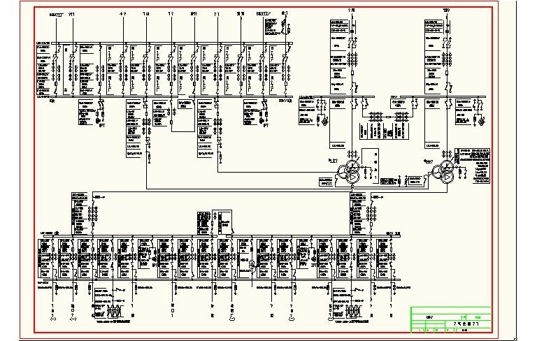 图纸 给排水图纸  110kv变电站主接线图             电气工程毕业