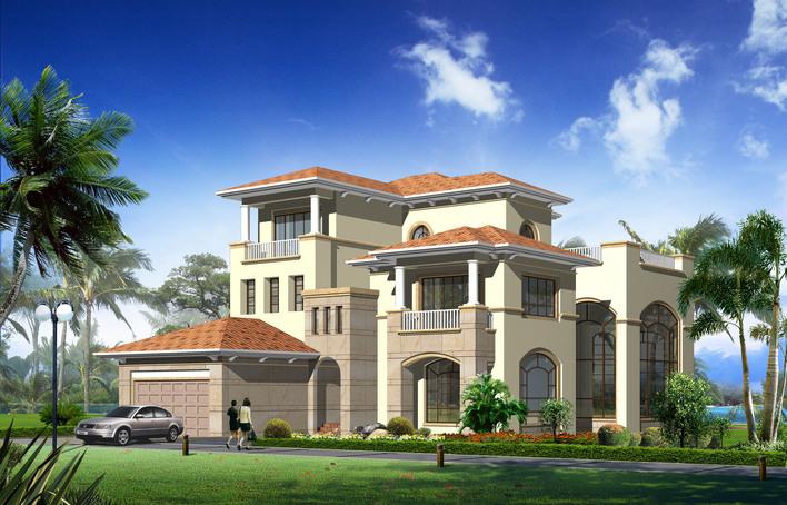 大型别墅设计图纸及效果图大全