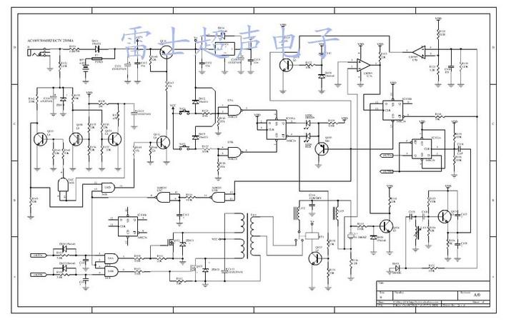 超声波清洗机线路图图片
