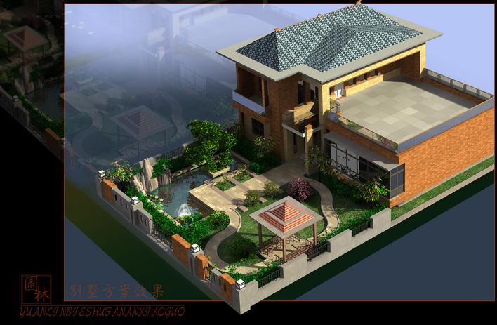装修方案图成角透视室内设计图现代简约别墅方案图
