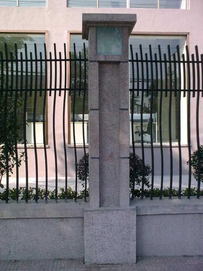 图纸 建筑结构图  围墙大样详图   围墙大样详图,钢筋混凝土立柱配筋